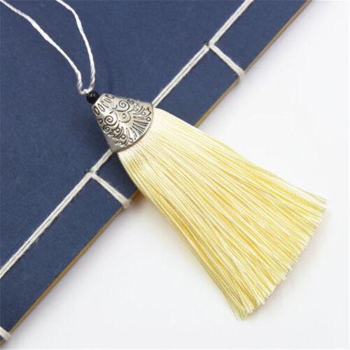 "10PCS 8cm 3.15/"" 26 Colors Crafts Sewing Decoration Costume Satin Tassels"