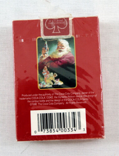 1996 Coca Cola Coke Santa Claus Christmas Red Poker Playing Cards