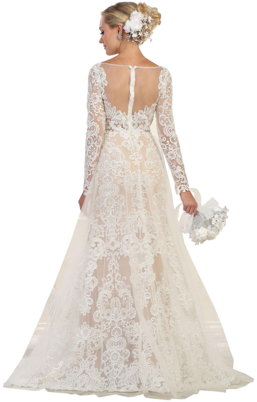 NEW DESIGNER DESTINATION WEDDING DRESSES CHURCH FORMAL BRIDAL EVENING GOWN GALA