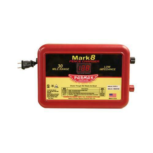 Parmak MARK 8 Low Impedance 110//120-Volt 30-Mile Range Electric Fence Charger