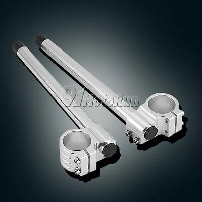 "Motorcycle Clip On 7/8"" CNC Handlebar 33/35/37/39/41/43/45/48/50/51 MM Fork Tube"