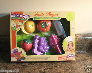 Pretend Food Play Set FRUITS Redbox Velcro Food and Accessories NEW