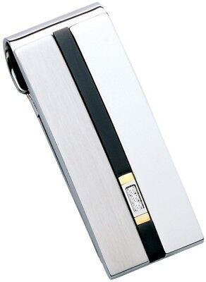 DOLAN BULLOCK diamond  money clip Verona ss /&18k gold nmc 012637 great gift $250