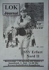 Programm 1998/99 ESV Lok Erfurt - SSV Erfurt Nord II