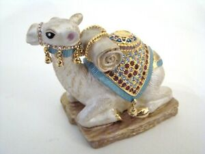 RUCINNI-Jeweled-Trinket-Hinged-Box-Camel