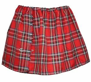 Ladies-039-Tartan-Mini-Kilt-Red-Royal-Stewart2-Burns-Night-Scottish-Fancy-Dress