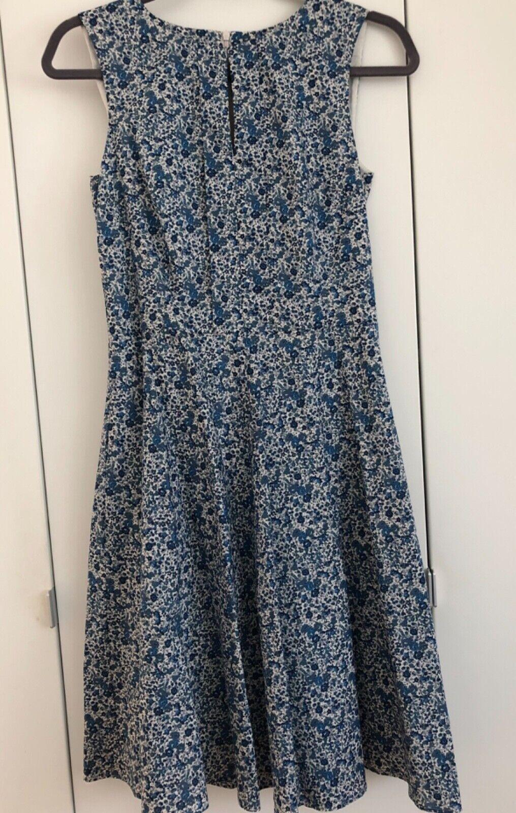 f1640bbe193a58 JOOP Derry Kleid Sommerkleid Blümchen Impression Blau-Weiß-Beige Gr.34 wie  neu