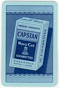 Playing-Cards-1-Single-Card-Old-Vintage-CAPSTAN-Box-10-CIGARETTES-Advertising-2