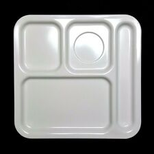 Vtg Texas Ware White Square Divided School Cafeteria Lunch Tray Plate [9 left]