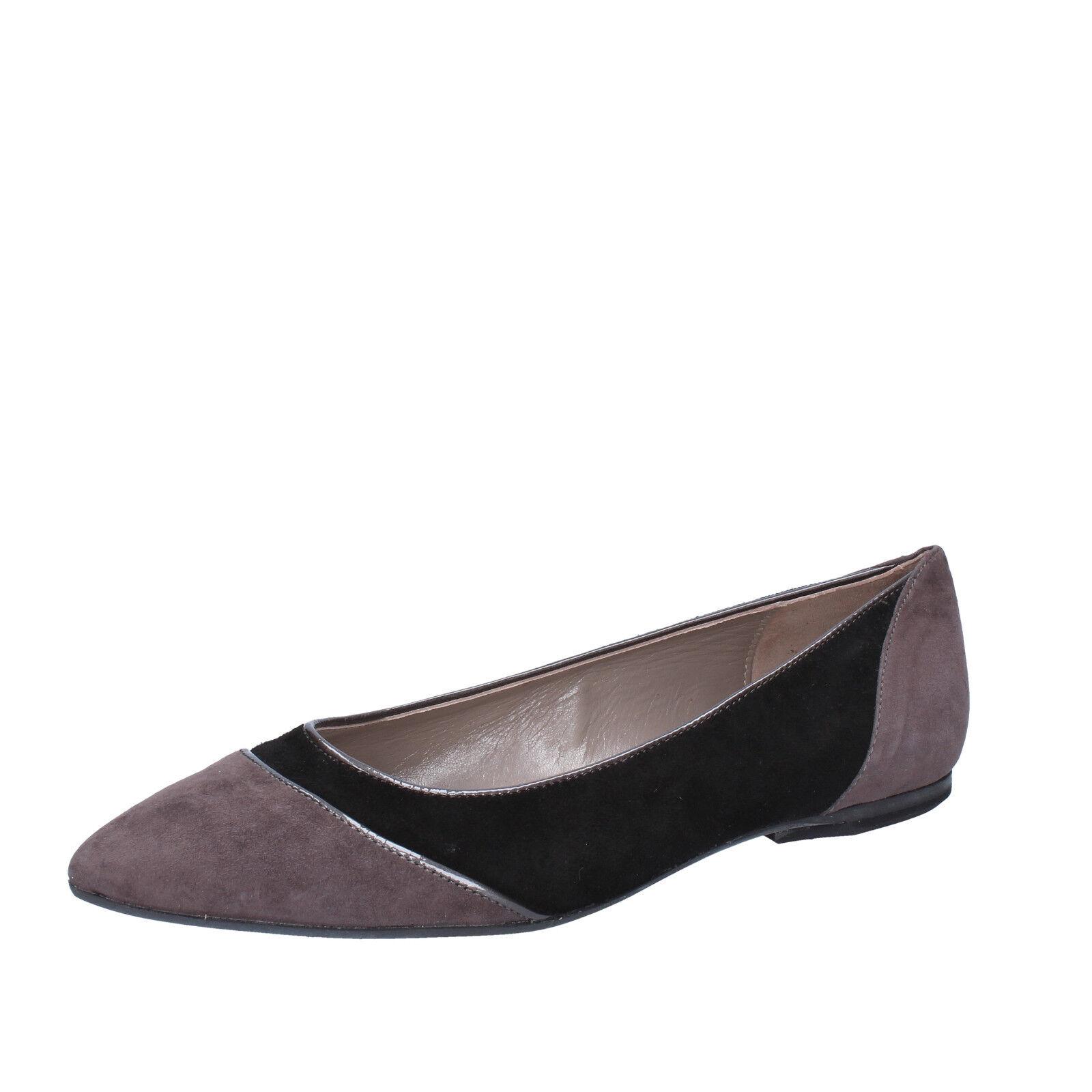 Damens's schuhe EDDY DANIELE 7 (EU 37) flats gray schwarz suede AV432