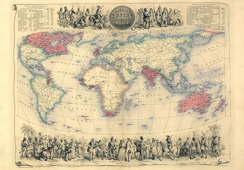 MP21 Vintage Historical 1720 Nautical Chart World Map Poster Print A1 A2 A3
