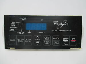 Details about 8522477 Whirlpool Black Stove Range Control *1 Year  on