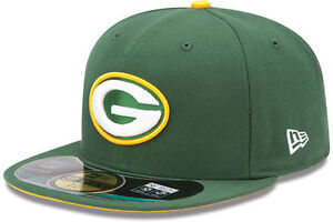 New Era Green Bay Packers NFL On Field Cap 5950 Authentic Fitted Basecap 6 7/8-8