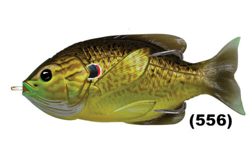 Live Target Sunfish Bluegill Hollow Body Topwater Pick any SFH Color Size Lure