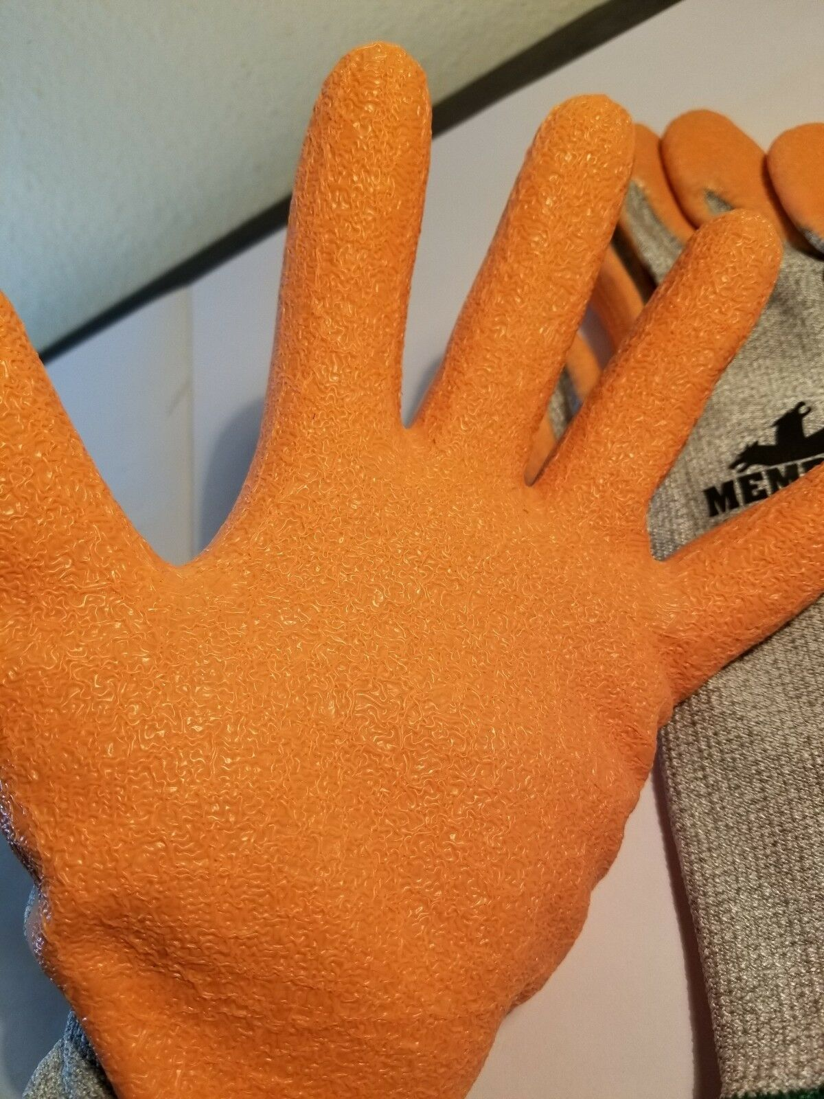 3 Pairs Memphis Dyneema HiVis Work Gloves Natural Rubber Latex Dipped 9672HVO XL