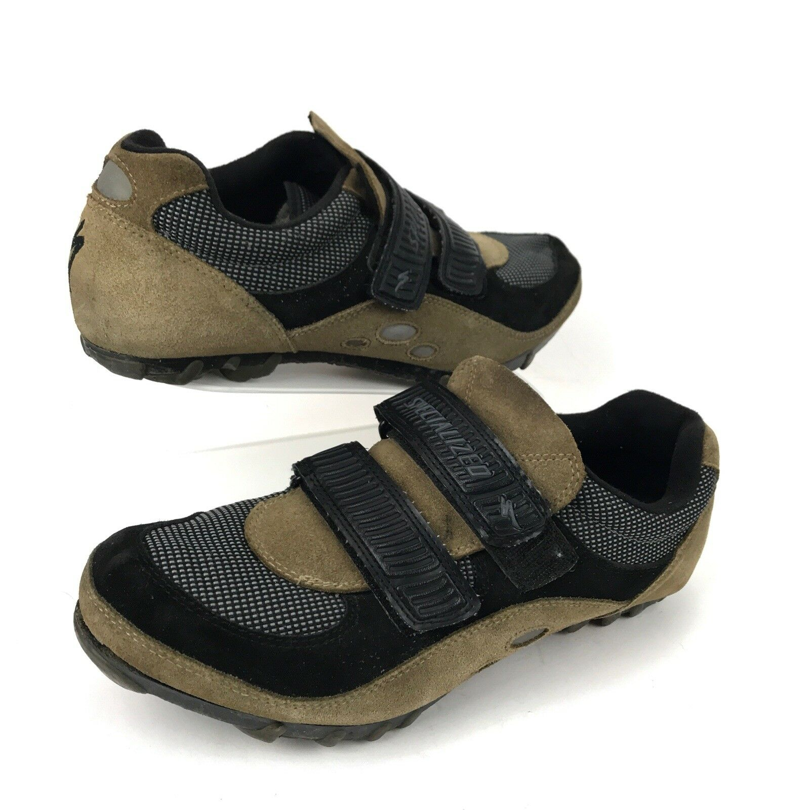90s Vintage Specialized Brown Sport Mountain Bike Cycling shoes Men's 11.5
