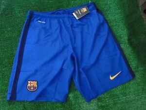 BARCELONA AWAY FOOTBALL SHORTS  2015-16 SIZE EXTRA LARGE BNWT
