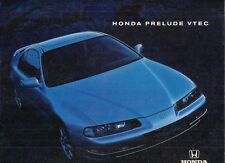 Honda Prelude 2.2 VTEC 1993-94 UK Market Sales Brochure