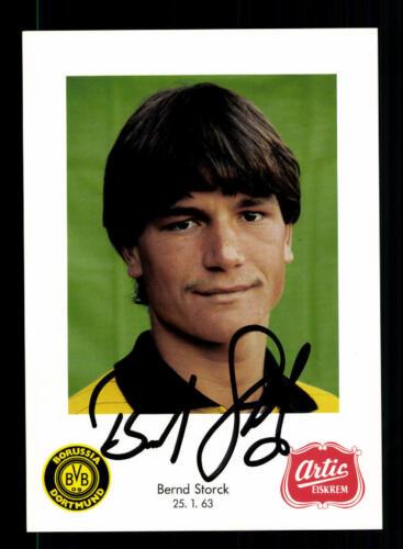 A 195296 Bernd Storck Autogrammkarte Borussia Dortmund 1985-86 Original