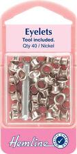 Pequeños ojales, herramienta incluido níquel, para ropa etc 40 Piezas - 5.5mm, 1/5in.