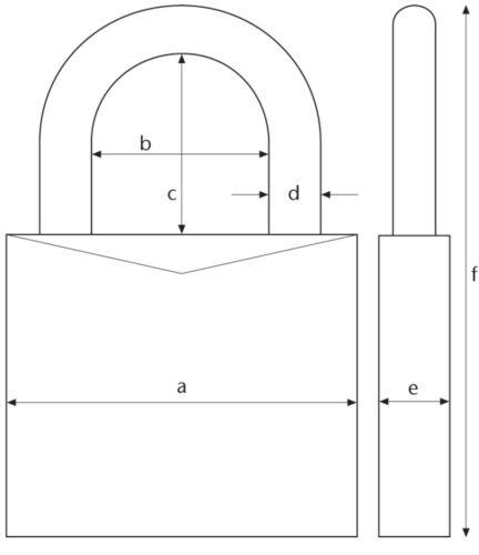 Vorhangschloss für Halbzylinder 30//10 Abus 86Ti//55 86Ti//45 Hangschloss