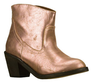 4a3e52bfe0f Details about NEW SKECHERS 48256 ROSE GOLD PINK BROWN ANKLE HEEL BOOTIE  COWBOY BOOT SHOES 10