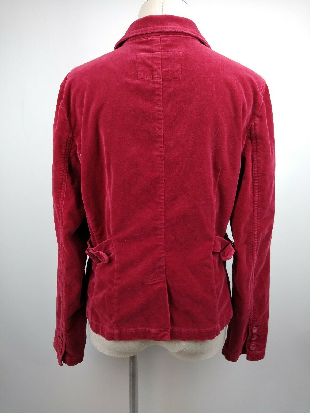 AEO American Eagle Outfitters Red Velvet Cropped … - image 3