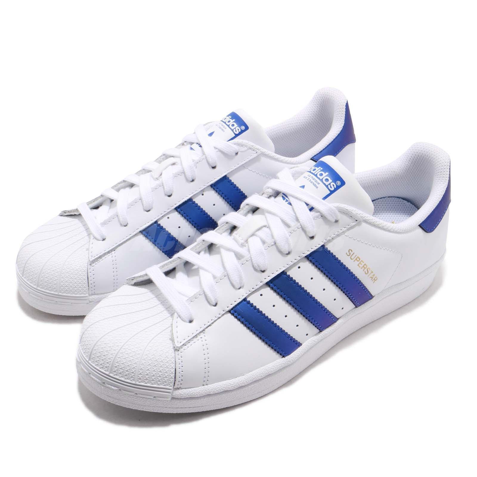 Adidas Originals Superstar blanco Core Navy oro Men Classic zapatos zapatilla de deporte D98000