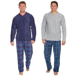 Mens New PJs Lounge Wear Pyjama Fleece Soft Cosy Warm Bottoms Pants Trousers