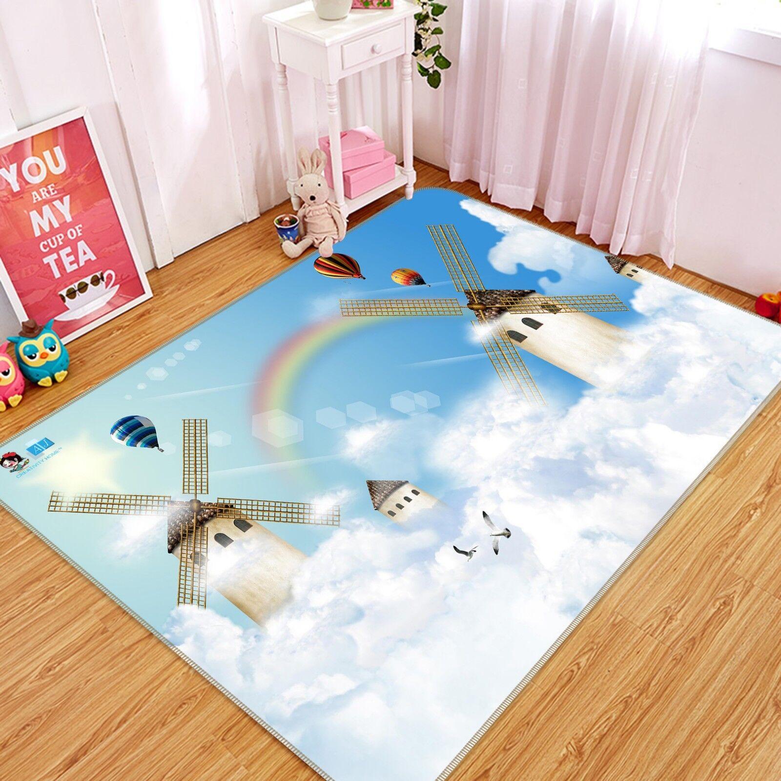 3D MULINO A VENTO 05 tappetino antiscivolo tappeto camera Tappetino Qualità Elegante foto Tappeto UK COBB