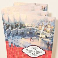Thomas Kinkade 18 Boxed Cards The Spirit Of Christmas Foil Lined Envelopes