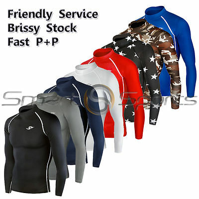 Clothing, Shoes & Accessories Honesty New Long Sleeve Compression Skin Tight Base Layer Shirt Rashie Sizes S-3xl Tfx Shrink-Proof