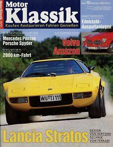 Auto & Motorrad: Teile Berichte & Zeitschriften Motor Klassik 10/93 1993 Lancia Stratos Peugeot 404 Coupé Volvo Amazon Mercedes