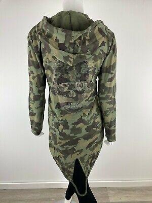 Damen Jacke Überwurf Totenkopf Schwarz One Size Neu Trend 36