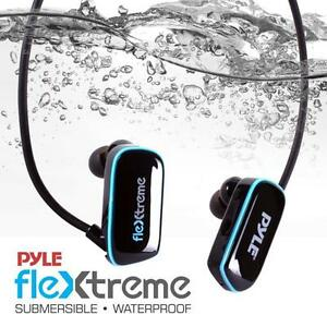 Pyle PSWP14BK Flextreme Waterproof MP3 Player w/ Headphones, 8GB Built-in Memory