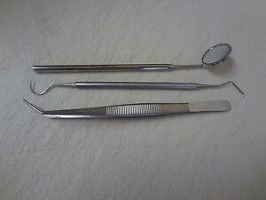 Dental Tartar Calculus Plaque Remover, Tooth Scraper, Dental Mirror & Scaler Set 696231606410