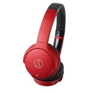 NEW-Audio-Technica-Bluetooth-Wireless-Headphone-Red-ATH-AR3BT-RD