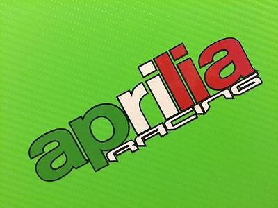 Aprilia Racing in Flag colours with outline - Bike Decals Stickers PAIR#132
