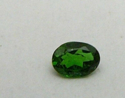 Russian mined chrome diopside oval 6 x 4 AAA grade .45 ctw