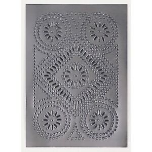 Cabinet Panel Diamond Design Insert Metal Tin Punched