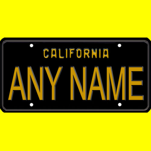 Bicycle license plate California design any name new custom personalized