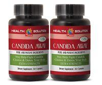 Candida Formula - Candida Away Detox Pills Body Cleanse (2 Bottles, 120 Caps)