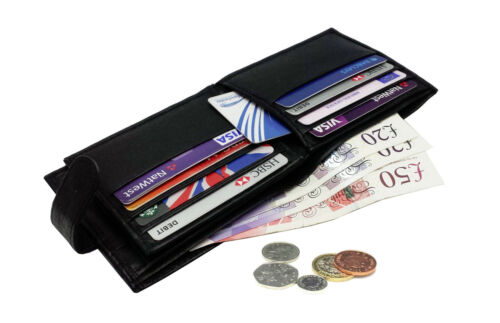 MENS SOFT HIGH QUALITY GENUINE REAL LEATHER WALLET CREDIT CARD COIN DESIGN PURSE