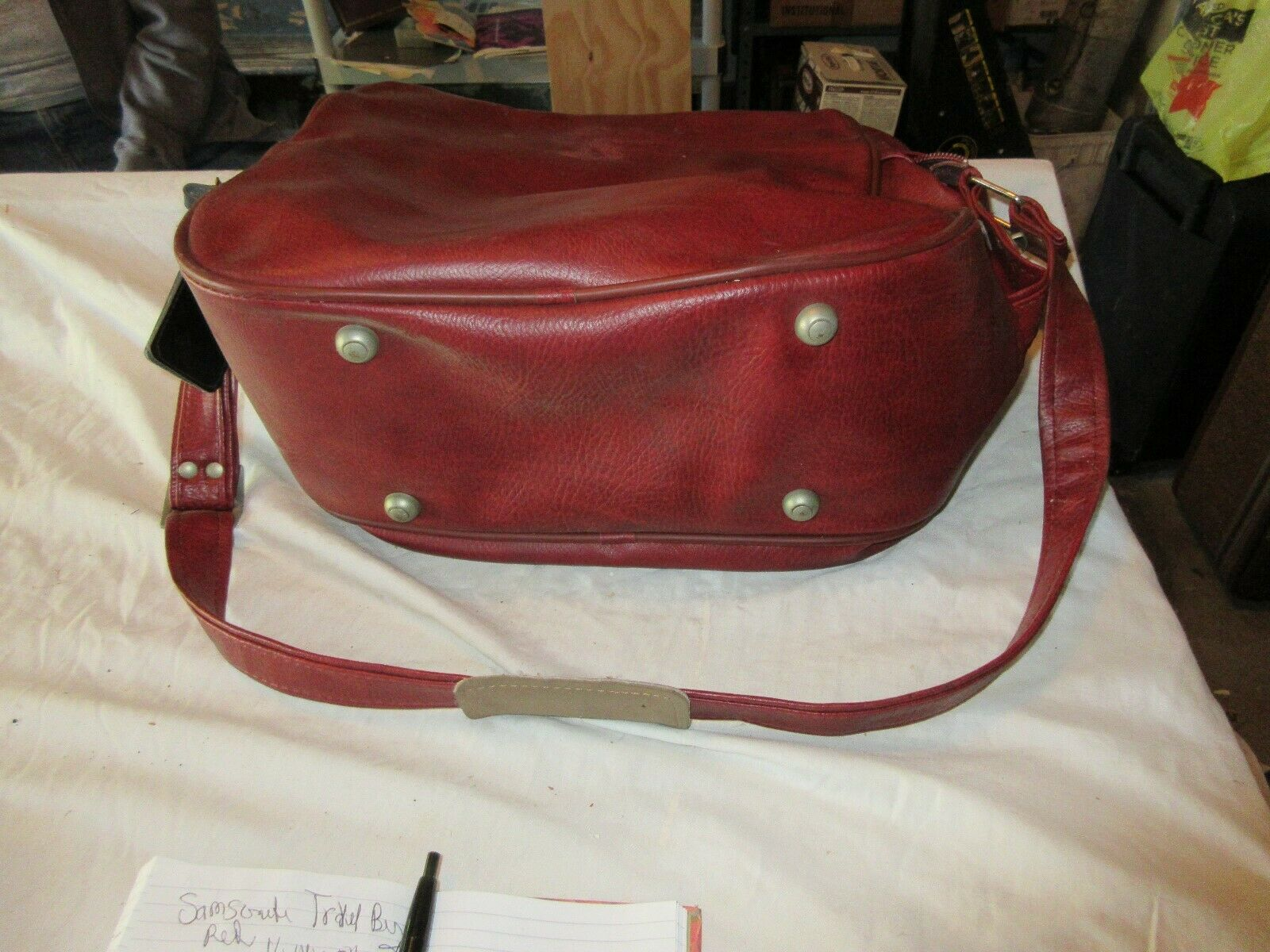 "Samsonite , Travel Bag , Red , 16""X14""X8"" , Vintage"