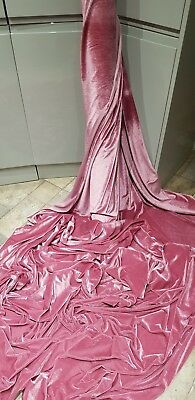 1m  BROWN   STRECH VELOUR VELVET dress  FABRIC 58 INCES WIDE