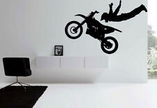 Motorbike Motocross bike Kids Quote Wall Stickers Art Room Removable Decals DIY
