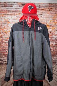 Mens-Nike-NFL-Atlanta-Falcons-Jacket-Size-XL-New-Era-Snapback-hat-Scarf