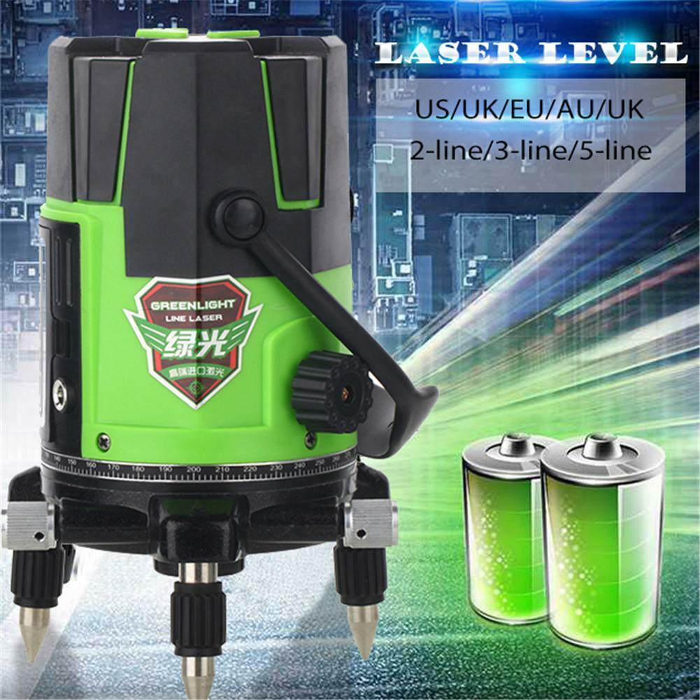 360° redary Laser Level 2 3 5 Cross Green Lines Self-Leveling Measuring Tools