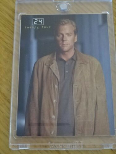"""24"" TV SERIES PIECEWORKS CARD JACK BAUERKIEFER SUTHERLAND! COMIC IMAGES COA M1"