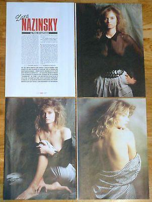 LARA NASZINSKY 1989 6 page sexy article clippings Fench ...